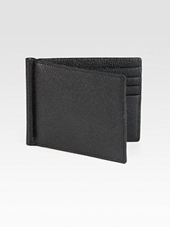 Bally - Pebbled Leather Money Clip Wallet