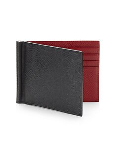 Bally - Leather Money Clip Wallet