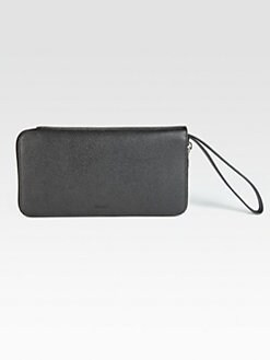 Bally - Embossed Leather Clutch Wallet
