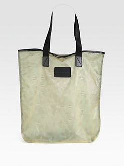 Marc by Marc Jacobs - Coated Mesh & Rubber Shopping Tote