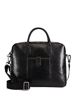 BOSS Black - Stamped Leather Briefcase