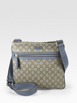 Gucci - GG PU Stars Fabric Flat Messenger Bag