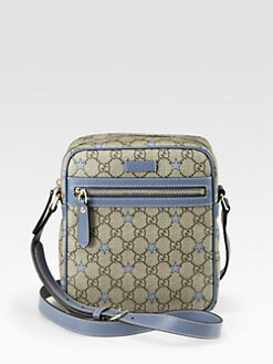 Gucci - GG PU Stars Fabric Shoulder Bag