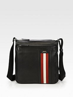 Bally - Perforated Leather Messenger