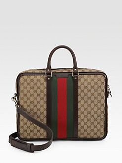 Gucci - Canvas & Leather Briefcase