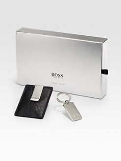 BOSS Black - Gergo Card Case & Key Chain Gift Set