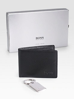 BOSS Black - Gallion Wallet & Key Chain Gift Set