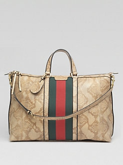 Gucci - Natural Python Top-Handle Duffel Bag