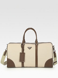 Prada - Canvas and Leather Tote Bag
