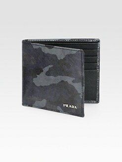 Prada - Printed Saffiano Leather Wallet
