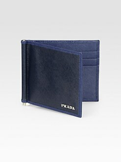 Prada - Saffiano Leather Money Clip Wallet
