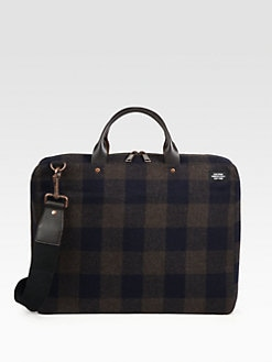 Jack Spade - Plaid Fabric Laptop Case