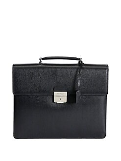 Salvatore Ferragamo - Double-Gusset Leather Briefcase