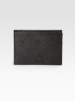 Salvatore Ferragamo - Gancini Stamped Leather Card Holder