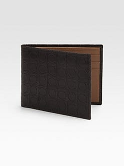Salvatore Ferragamo - Gancini Stamped Leather Wallet
