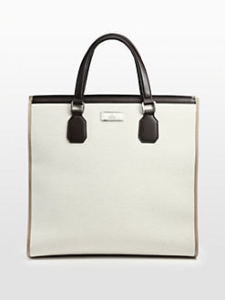 Gucci - Canvas and Leather Tote