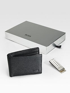 BOSS Black - Wallet and Money Clip Gertit Gift Box
