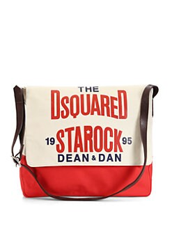 DSQUARED - Hank Canvas Messenger Bag