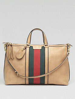 Gucci - Leather Top-Handle Duffel Bag