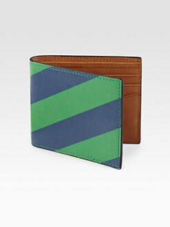 Jack Spade - Repp Striped Leather Bill Holder