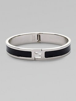 Fendi - Metal and Leather Bracelet