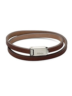 Fendi - Wrap-Around Leather Bracelet