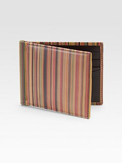 Paul Smith - Striped Card Case Wallet