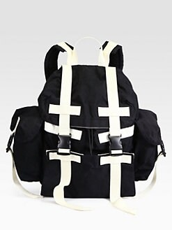 Marc by Marc Jacobs - Contrast-Trimmed Canvas Backpack