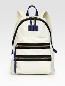 Marc by Marc Jacobs - Contrast Leather-Trimmed Backpack