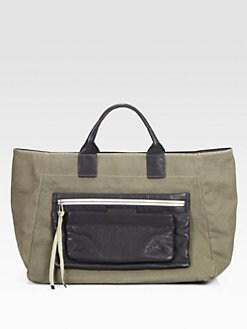 Marc by Marc Jacobs - East Coast Leather-Trimmed Canvas Tote