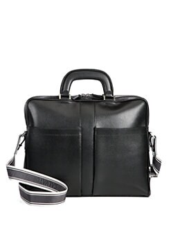 Salvatore Ferragamo - Pebbled Leather Briefcase