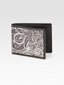 Robert Graham - McLean Leather-Trimmed Paisley Wallet