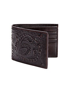 Robert Graham - Rich Paisley Leather Wallet