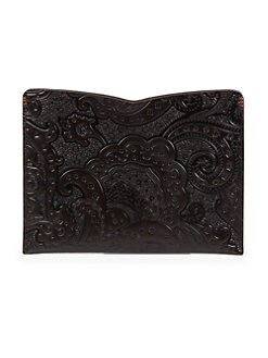 Robert Graham - Thorston Paisley Leather iPad Sleeve
