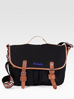 Robert Graham - Atkins Leather-Trimmed Canvas Messenger Bag
