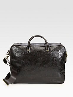 Robert Graham - Gilmore Paisley Leather Briefcase
