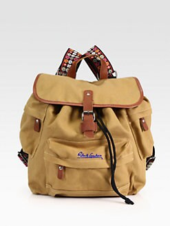 Robert Graham - Blackmore Leather-Trimmed Canvas Backpack