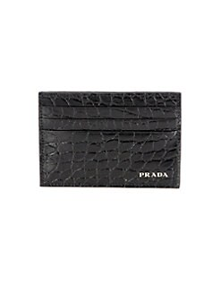 Prada - Stamped Leather Card Case