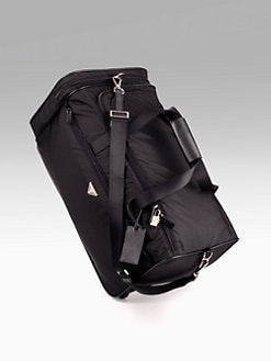 Prada - Nylon/Leather Roll Duffel Bag