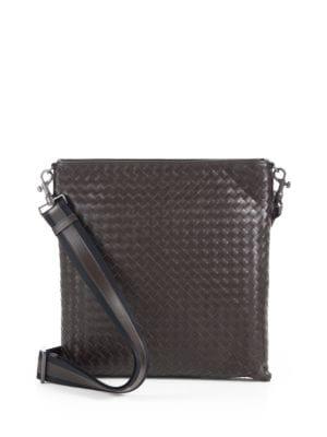 Intrecciato Leather Crossbody Messenger