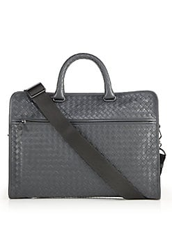 Bottega Veneta - Leggeron Intrecciato Leather Briefcase
