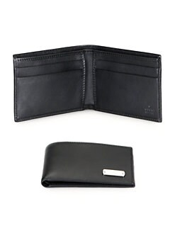 Gucci - Taggy Leather Bi-Fold Wallet