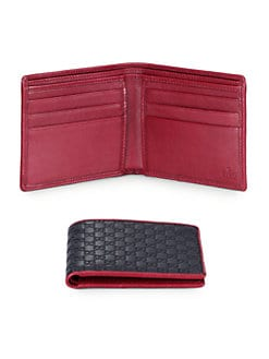 Gucci - Microguccissima Leather Bi-Fold Wallet