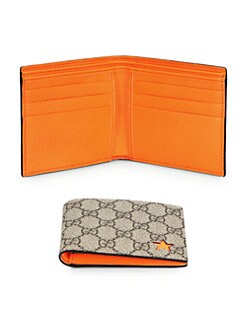Gucci - Micro GG Supreme Stars Bi-Fold Wallet