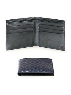Gucci - Microguccissima Patent Leather Bi-Fold Wallet
