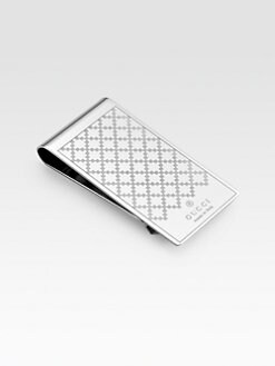 Gucci - Diamante Pattern Metal Money Clip