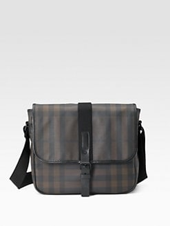 Burberry - Griffith Smoked Check Messenger Bag