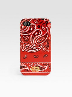 Jack Spade - Red Bandana Case for iPhone 4/4S