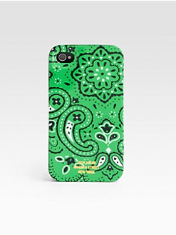 Jack Spade - Green Bandana Case for iPhone 4/4S