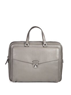 Prada - Pebbled Leather Briefcase